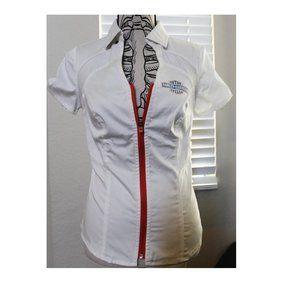 Harley Davidson zip shirt